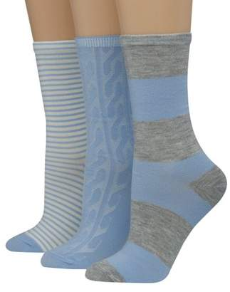 Hanes Women's Lifestyle Low Cut Socks, Giftable 3 Pair Pack