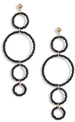 Gorjana Sayulita Quartet Hoop Drop Earrings
