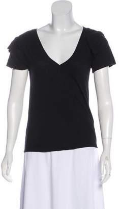 Pam & Gela Ruffled Short Sleeve Top