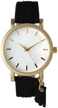 OLIVIA PRATT Olivia Pratt Tassle Charm Womens Black Strap Watch-15984