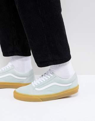 Vans Old Skool Gum Sole Sneakers In Blue VA38G1QK8