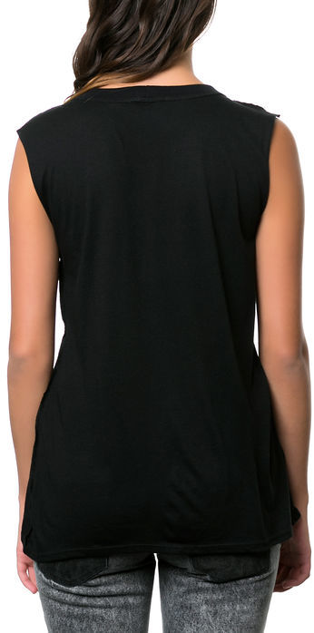 Social Decay The Baked Muscle Tee in Black