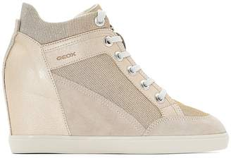 Geox D Eleni C Wedge Suede Trainers