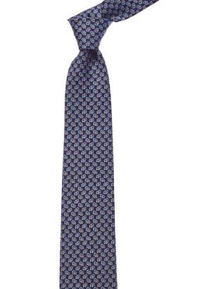 Salvatore Ferragamo Navy Gancio Silk Tie