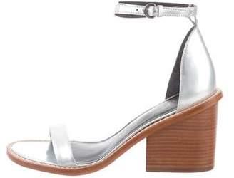 Tibi Metallic Ankle-Strap Sandals