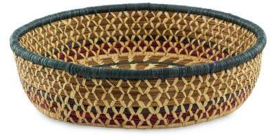 Maya Sun Collectible Natural Fiber Woven Basket