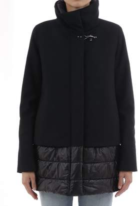 Fay Black Coat With Down