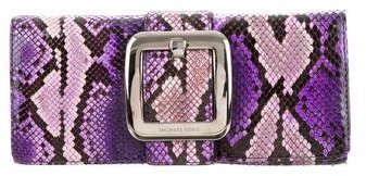 MICHAEL Michael Kors Michael Kors Snakeskin Buckle-Accented Clutch