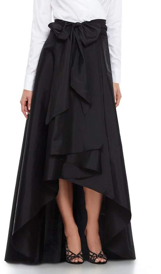 Adrianna Papell Hi-Low Taffeta Skirt