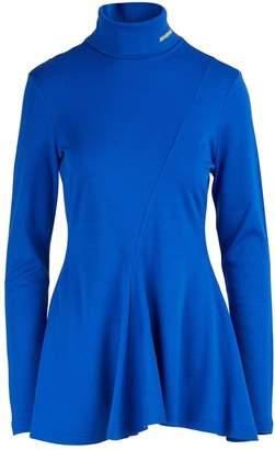 Calvin Klein Pleated wool jersey top