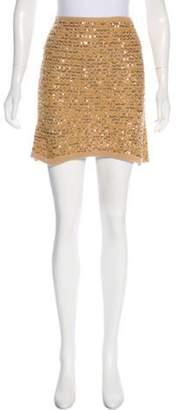 Sonia Rykiel Sequin Mini Skirt Gold Sequin Mini Skirt