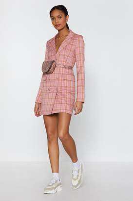Nasty Gal Plaid Times Blazer Dress