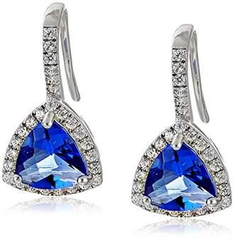 Sloane Rebecca Platinum Plated Sterling Silver Drop Earrings