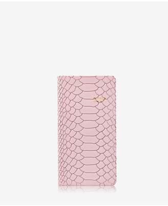 GiGi New York 2019 6 Pocket Datebook In Petal Pink Embossed Python Leather