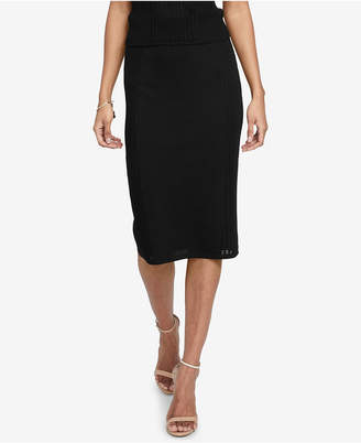 Rachel Roy Mixed-Stitch Pencil Skirt, Created for Macy's