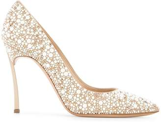 Casadei embellished pointed pumps
