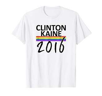 Clinton Kaine Gay Pride Flag T-Shirt