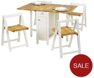 Camilla And Marc Julian Bowen Savoy 120 Cm Space Saver Dining Table + 4 Chairs