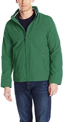 Tommy Hilfiger Men's Performance Taslan Windbreaker Jacket with Hidden Hood