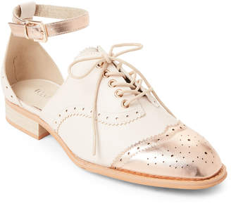 Wanted Nude & Rose Gold Cherub Cutout Oxfords