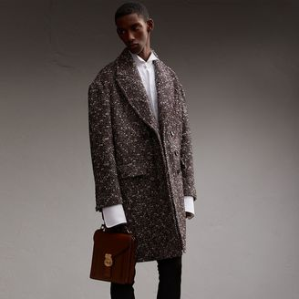 Burberry Wool Mohair Blend Tweed Topcoat $2,195 thestylecure.com