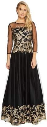 Tahari ASL Embroidered Mesh Ballgown Women's Dress