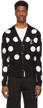 MAISON KITSUNÉ Black and White Dots Acide Fox Cardigan