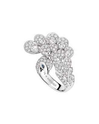 Boucheron 18k Diamond Peacock Ring, Size 50