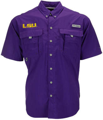 Columbia Men's Lsu Tigers Bahama Short Sleeve Button-Up Shirt