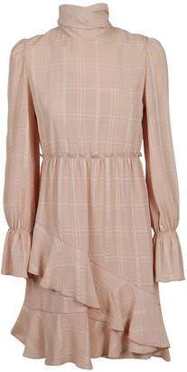See by Chloe Checked High Neck Dress