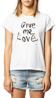 Zadig & Voltaire Rafi Give Me Love Graphic Tee