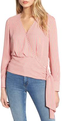 Chelsea28 Surplice Neck Side Tie Blouse