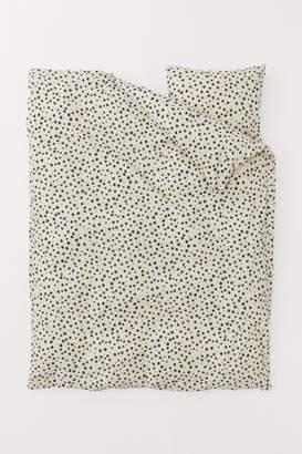 H&M Patterned Duvet Cover Set - Beige