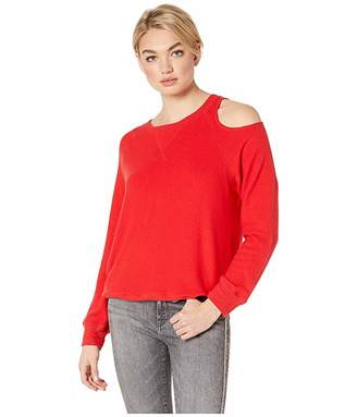 LnA Brushed Heart On My Sleeve Sweater