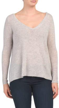 Cashmere V Neck Asymmetrical Sweater