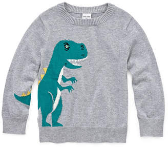 Okie Dokie Crew Neck Long Sleeve Pullover Sweater-Toddler