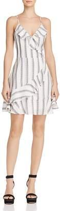Blu Pepper Striped Faux-Wrap Dress