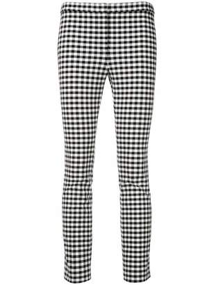 Theory gingham skinny trousers