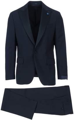 Lardini Satin Peak Lapel Suit