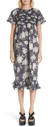 Comme des Garcons Rose Print Dress