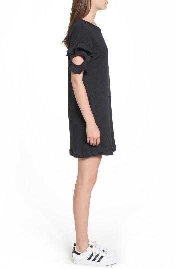 Women's Lush Ruffle Cutout Sweatshirt Dress 5