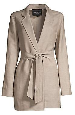 Lafayette 148 New York Women's Demarius Linen-Blend Wrap Topper