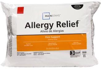 Mainstays Allergy Relief Hypoallergenic Down Alternative Pillow, Standard