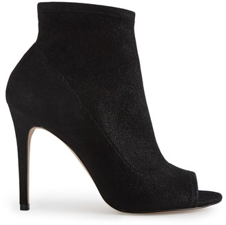 Reiss Our last order date for Christmas has now passed ESTELLE METALLIC PEEP TOE HEELED ANKLE BOOTS Metallic Black