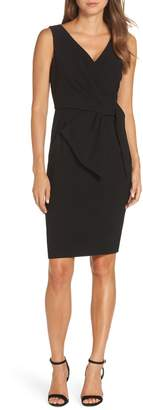 Eliza J Faux Wrap Sheath Dress
