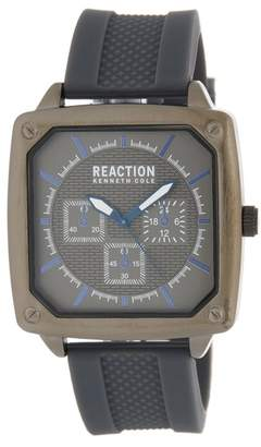 Kenneth Cole Reaction Men's 3 Hand Silicone Strap Watch, 45mm