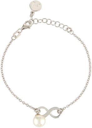Majorica 8mm Pearl Chain Bracelet w/ Infinity Station