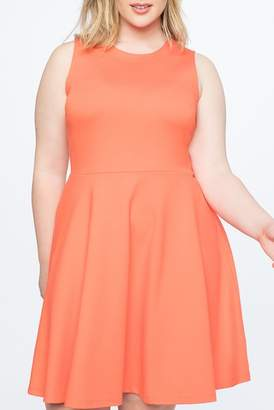 ELOQUII Bow Back Fit & Flare Dress (Plus Size)