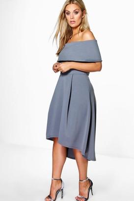 boohoo Plus Double Layer Midi Dress