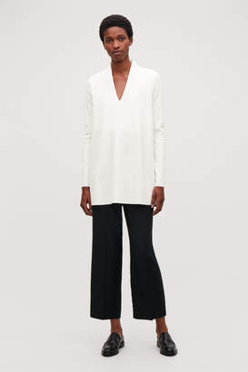 Cos JERSEY TOP WITH DRAPED NECK